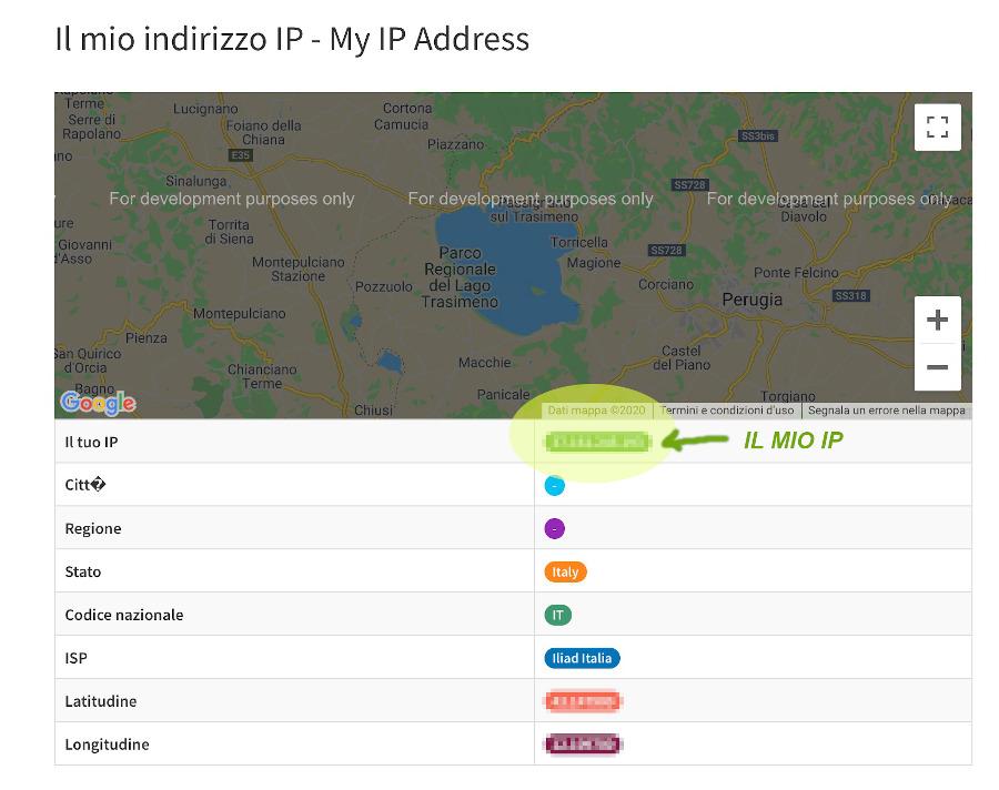 il mio IP